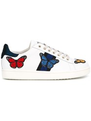 Moa Master Of Arts Embroidered Butterfly Sneakers White