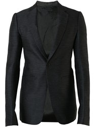 Rick Owens One Button Blazer Men Cotton 50 Black
