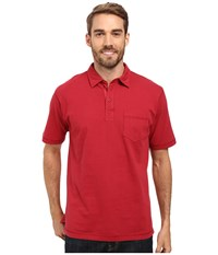 Woolrich First Forks One Pocket Polo Crimson Men's Short Sleeve Pullover Red