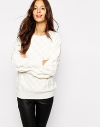 Pull And Bear Pullandbear Chunky Oversized Jumper Cream