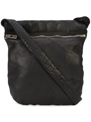 Guidi Small Shoulder Bag Black