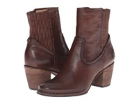 Frye Lucinda Scrunch Short Dark Brown Antique Pull Up Cowboy Boots