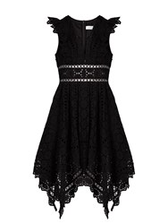 Zimmermann Divinity Wheel Broderie Anglaise Dress Black