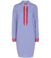 Tommy Hilfiger Checked Cotton Shirt Dress Blue