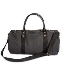 Cathy's Concepts Personalized Black Canvas And Leather Duffle Bag X