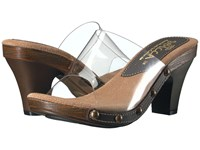 Sbicca Zina Clear Brown Women's Sandals