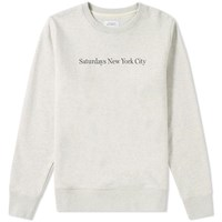 Saturdays Surf Nyc Bowery Print Sweat Neutrals