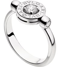 Bulgari Bvlgari Bvlgari 18Ct White Gold And Diamond Flip Ring