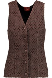 Missoni Metallic Crochet Knit Vest