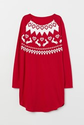 Handm H M Nightgown With Printed Design Red