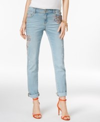 Inc International Concepts Embroidered Indigo Wash Straight Leg Jeans Only At Macy's