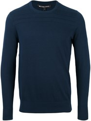 Michael Kors Crew Neck Sweater Blue