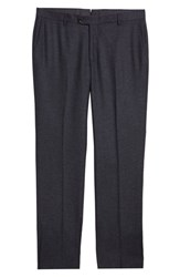 Hickey Freeman Classic Fit Solid Trousers Grey