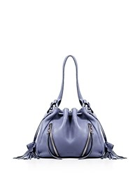 Linea Pelle Ryan Mini Drawstring Bucket Bag Slate