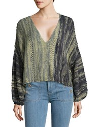 Free People Loose Fit Cropped Top Green