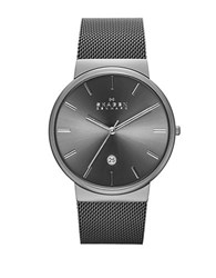 Skagen Mens Ancher Watch With Steel Mesh Bracelet Gun Metal
