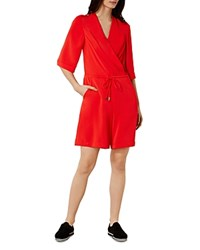 Karen Millen Drawstring Jumpsuit Red