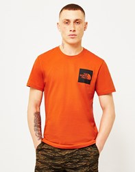 The North Face Black Label Short Sleeve Fine T Shirt Orange