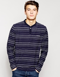 Pull And Bear Pullandbear Long Sleeve Top With Stripes Navy
