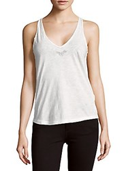 Zadig And Voltaire Hilda Cotton Tank Top Blanc