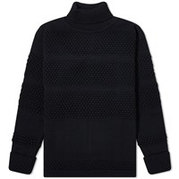 S.N.S. Herning Fisherman Roll Neck Knit Blue