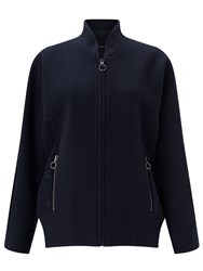 Jigsaw Lux Wool Bomber Blue