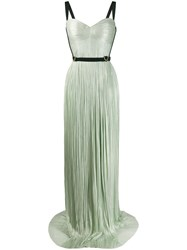 Maria Lucia Hohan Mina Harness Embellished Pleated Gown 60