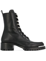 Barbara Bui Lace Up Boots Black