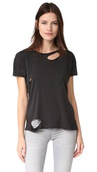 Anine Bing Distressed Tee Black