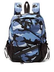Valentino Camouflage Backpack Blue Multi