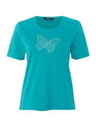 Tigi Short Sleeve Jersey Crew Neck Top Blue