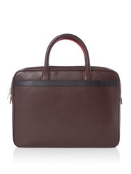 Paul Smith Leather Portfolio Bag Burgundy