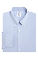 Brooks Brothers Big And Tall Regular Fit Houndstooth Dress Shirt Light Pastel Blue