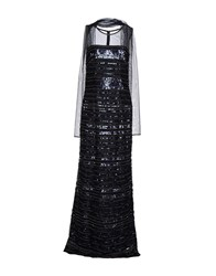 Musani Couture Long Dresses Dark Blue