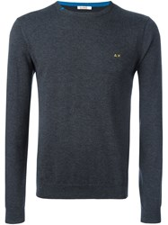 Sun 68 Crew Neck Jumper Grey