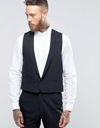 Hart Hollywood By Nick Skinny Waistcoat In Flannel Black