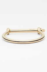 Miansai Gold Plated Screw Cuff Bracelet Gold Polished
