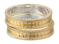 Anna Beck Set Of 2 Stacking Band Rings Sterling Silver W 18K Gold Vermeil Ring