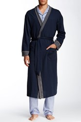 Majestic Contrast Trim Robe Blue