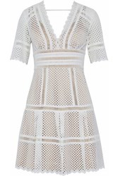 Catherine Deane Broderie Anglaise Mini Dress Off White Off White