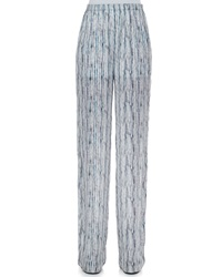 Theyskens' Theory Prim Silk Multi Print Pants