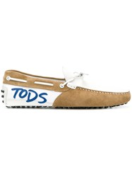 Tod's Gommino Driving Shoes White
