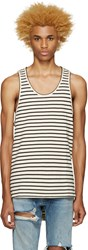 Fear Of God Ssense Exclusive Off White And Black Striped Top