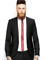 Noose And Monkey Suit Jacket With Shawl Lapel In Skinny Fit Black