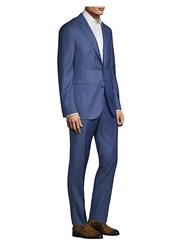 Pal Zileri Two Button Wool Suit Navy Adria