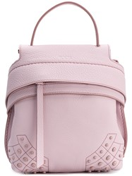 Tod's Wave Small Backpack Pink And Purple