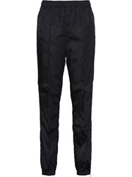 Prada Tapered Gabardine Track Pants Black