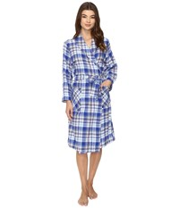 Jockey Flannel Robe Woodland Plaid Women's Robe Multi