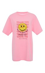 Rosie Assoulin Thank You Have A Nice Day Cotton Tee Pink
