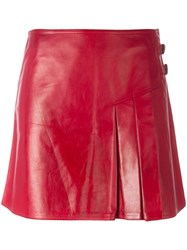 Christian Dior Vintage Mini Kilt Style Skirt Red
